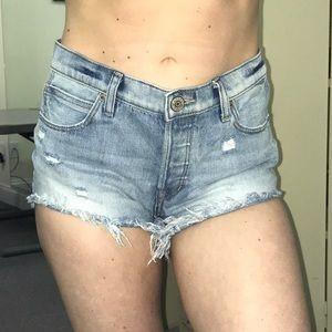Express size 0 high waisted jean shorts